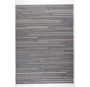 Modern tapijt met lijntjes zilver en crème