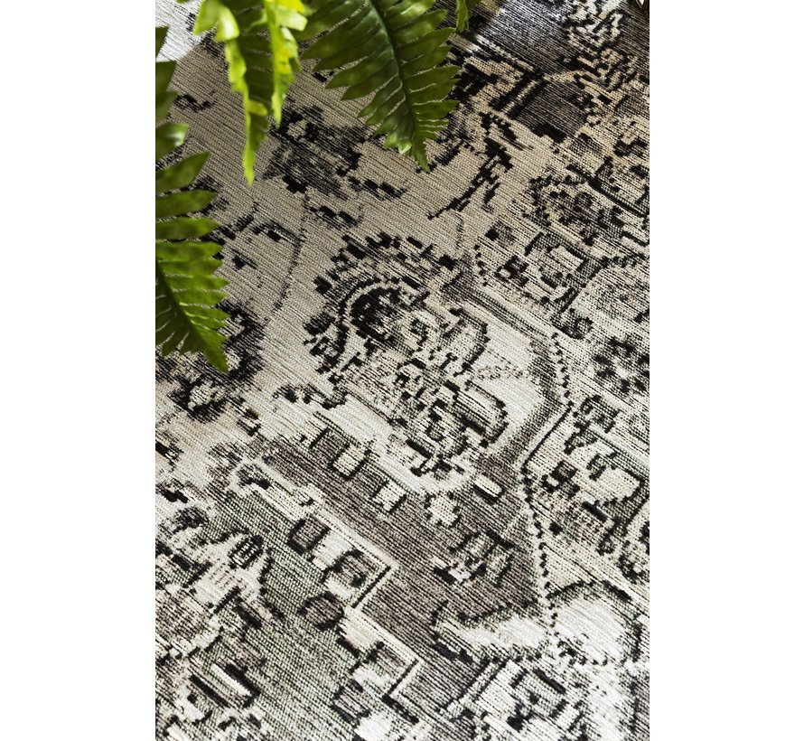 Vintage tapijt zwart