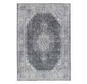 Vintage tapijt medaillon grijs