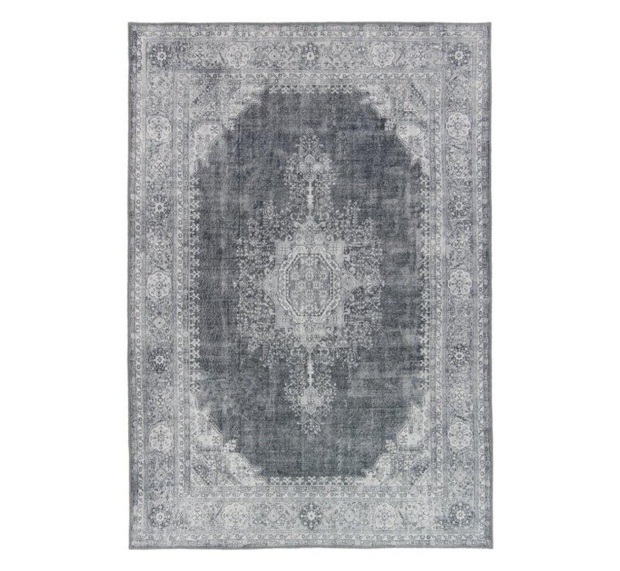 Tapis vintage médaillon gris