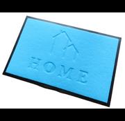 Ecologische deurmat blauw opschrift Home