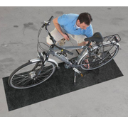 Tapis protection sol pour bicyclette anthra