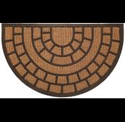 Kokosmat met rubber halfrond
