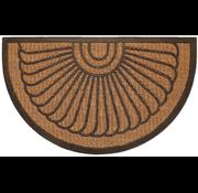 Paillasson caoutchouc et coco avec dessin en demi-lune