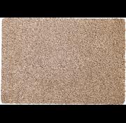 Tapis d'entrée écologique beige en coton sur mesure, 78 cm