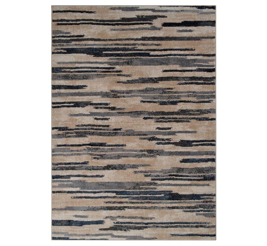 Modern tapijt lijnendessin grijstinten