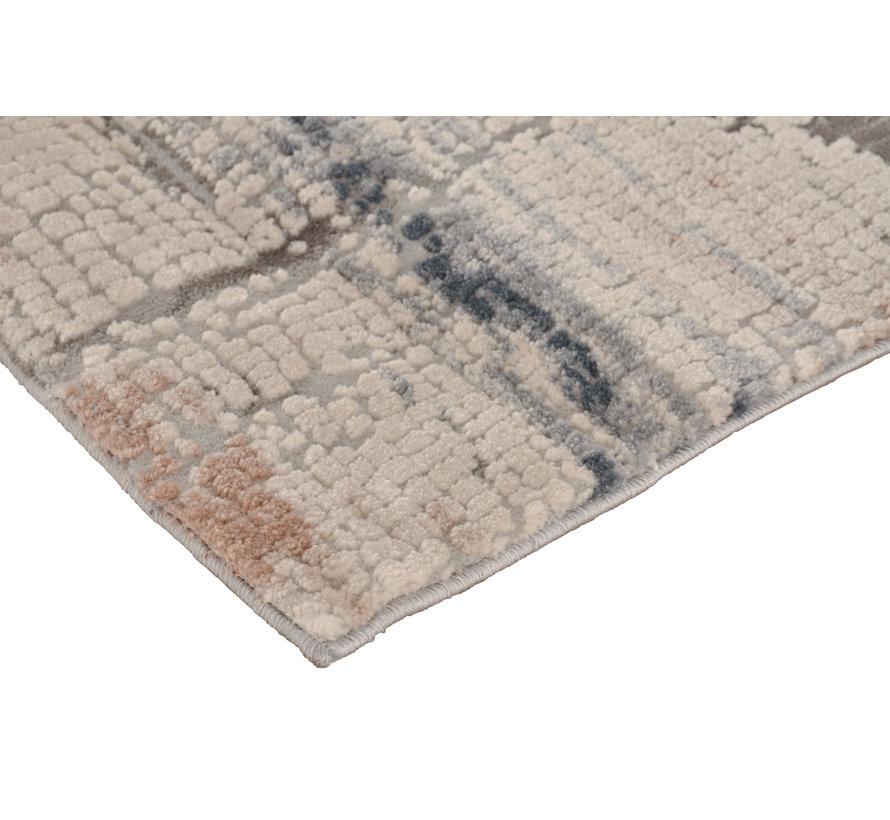 Modern tapijt in beige, crème en grijs