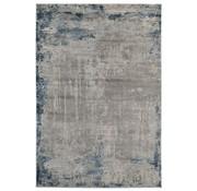 Modern tapijt in grijs en blauw