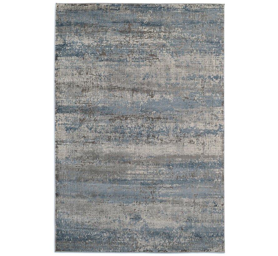 Tapis moderne bleu et gris