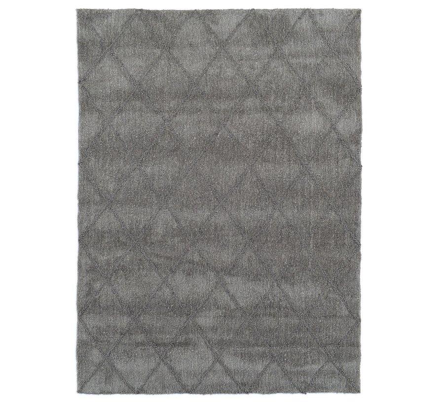 Tapis moderne dessin à carreaux gris