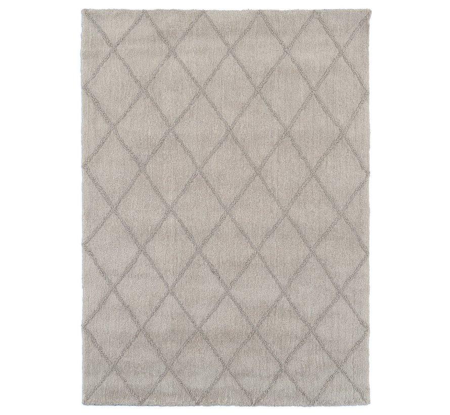Modern tapijt met ruitdessin wit