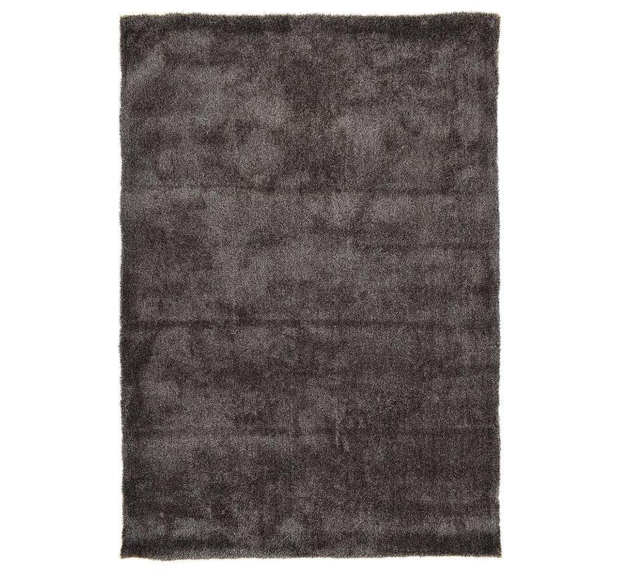 Hoogpolig tapijt antraciet luxe 20 mm