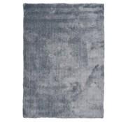 Tapis poils longs bleu argent luxe 20 mm