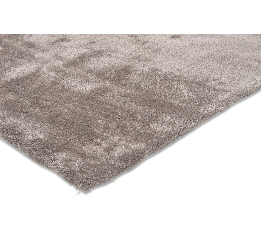 Tapis poils longs taupe luxe 20 mm