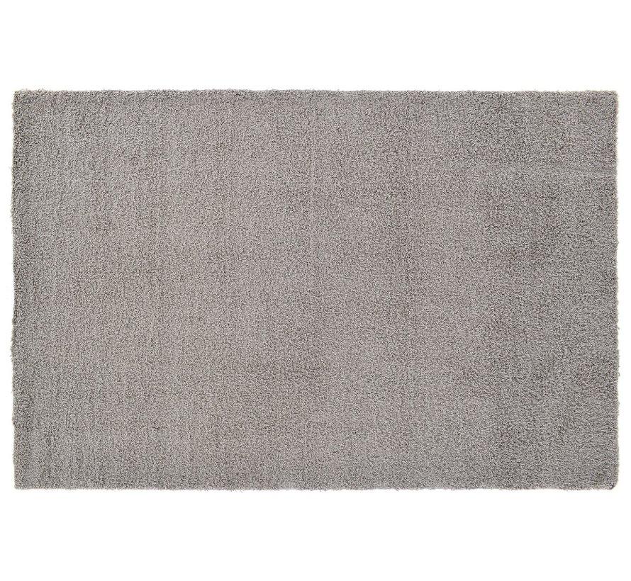 Hoogpolige badmat grijs