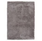 Tapis poil long polyester mix taupe