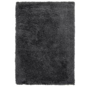 Tapis poil long polyester mix anthracite