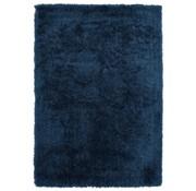 Hoogpolig tapijt in polyester mix  blauw