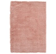 Tapis poil long polyester mix rose