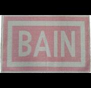 Tapis de bain en coton rose, BAIN
