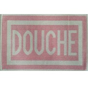 Tapis de bain en coton rose, DOUCHE
