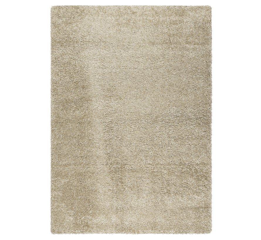 Hoogpolig tapijt beige 30 mm