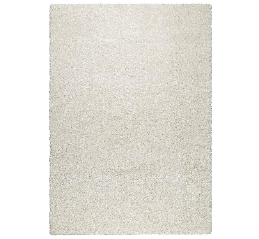 Hoogpolig tapijt wit 30 mm