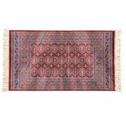 Klassiek tapijt rood/blauw