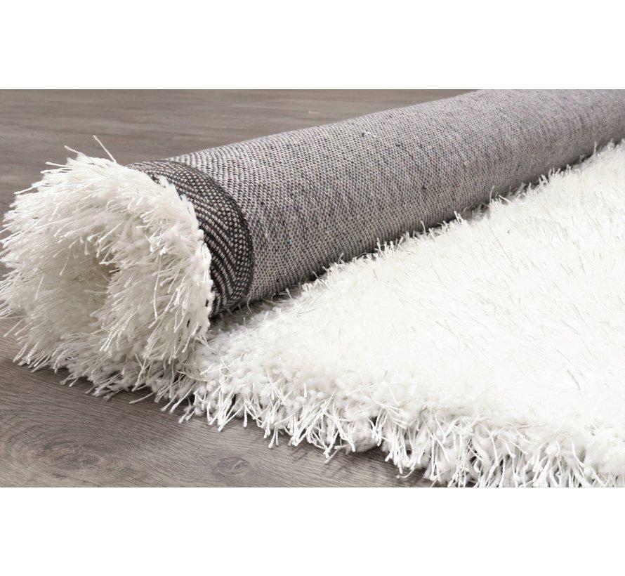 Hoogpolig tapijt in polyester mix  wit
