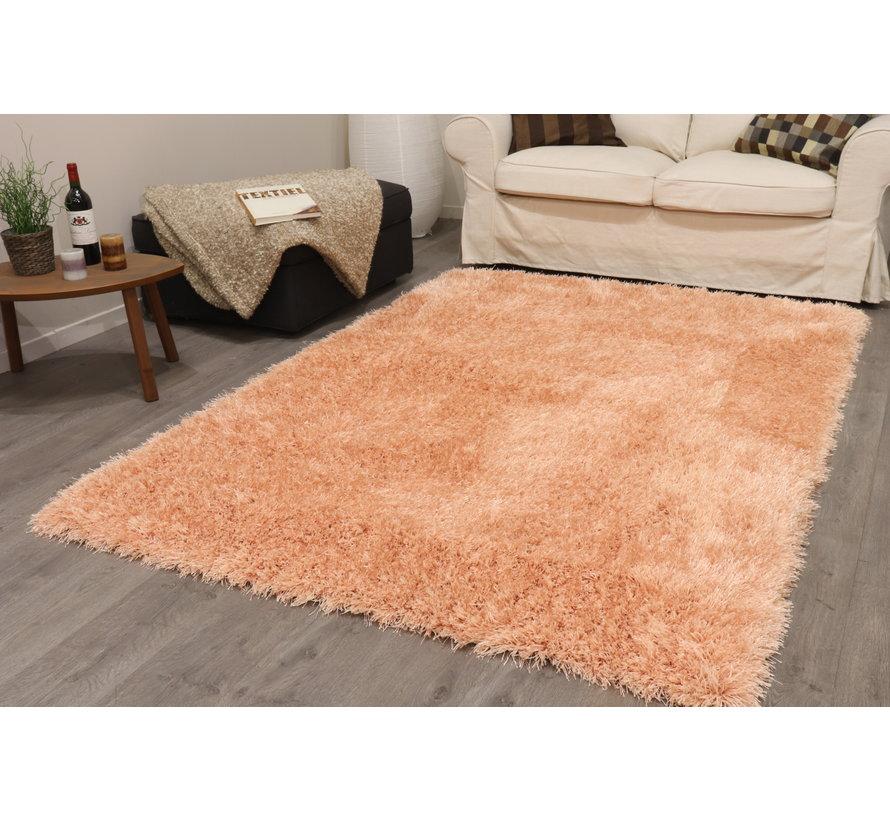 Hoogpolig tapijt in polyester mix  roze