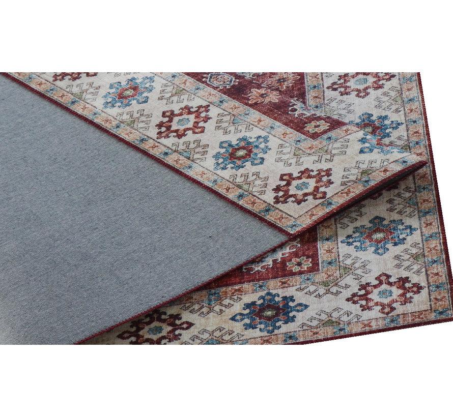 Vintage tapijt, bedrukt, etnisch dessin