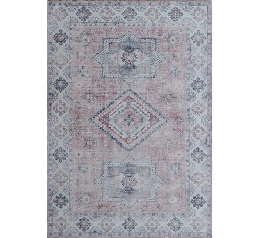 Vintage tapijt, bedrukt, roze
