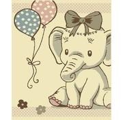 Kindertapijt met olifant