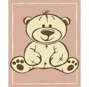 Tapis enfant avec ours rose
