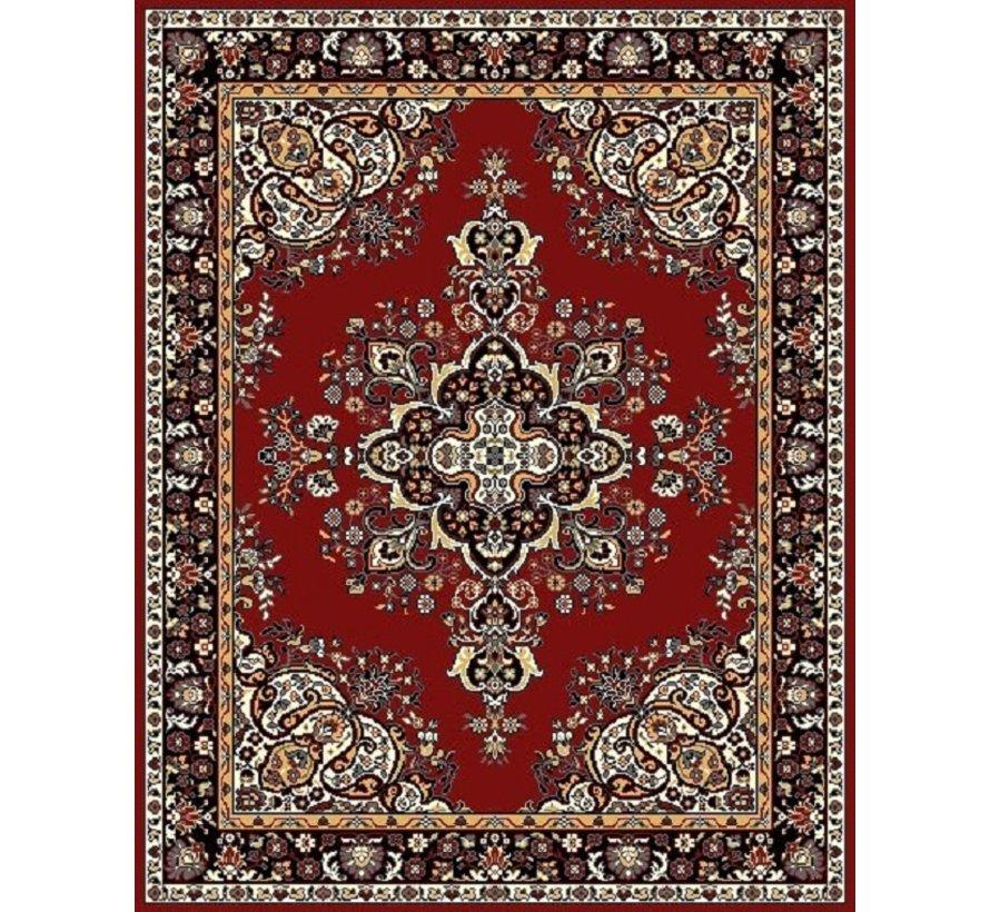 Klassiek tapijt met medaillon bordeaux