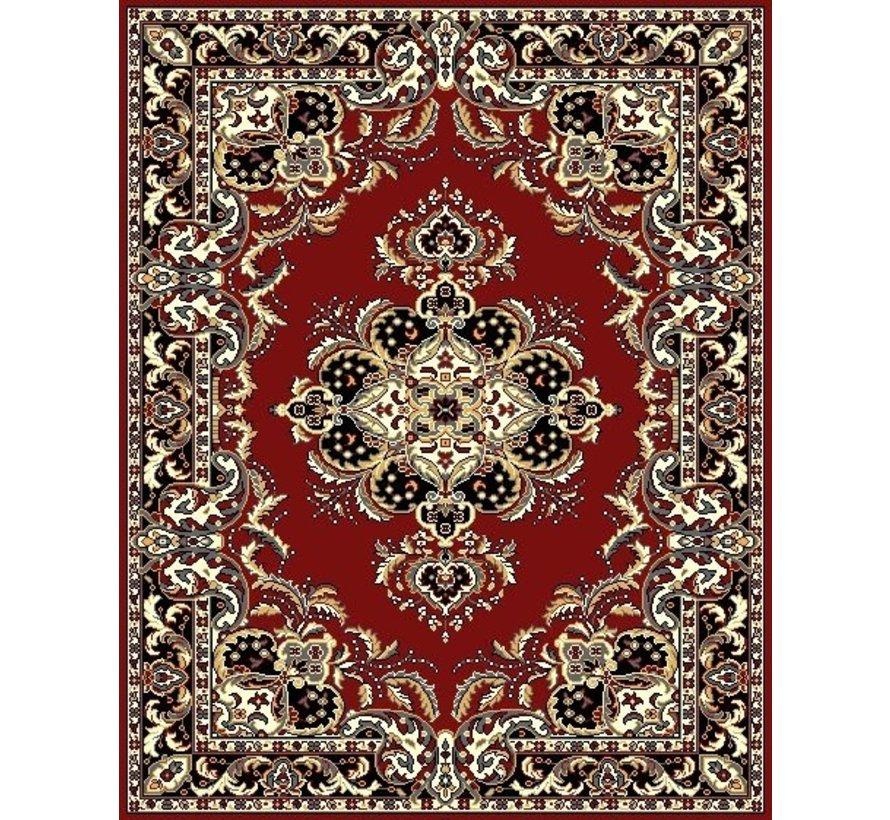 Klassiek tapijt bordeaux met medaillon