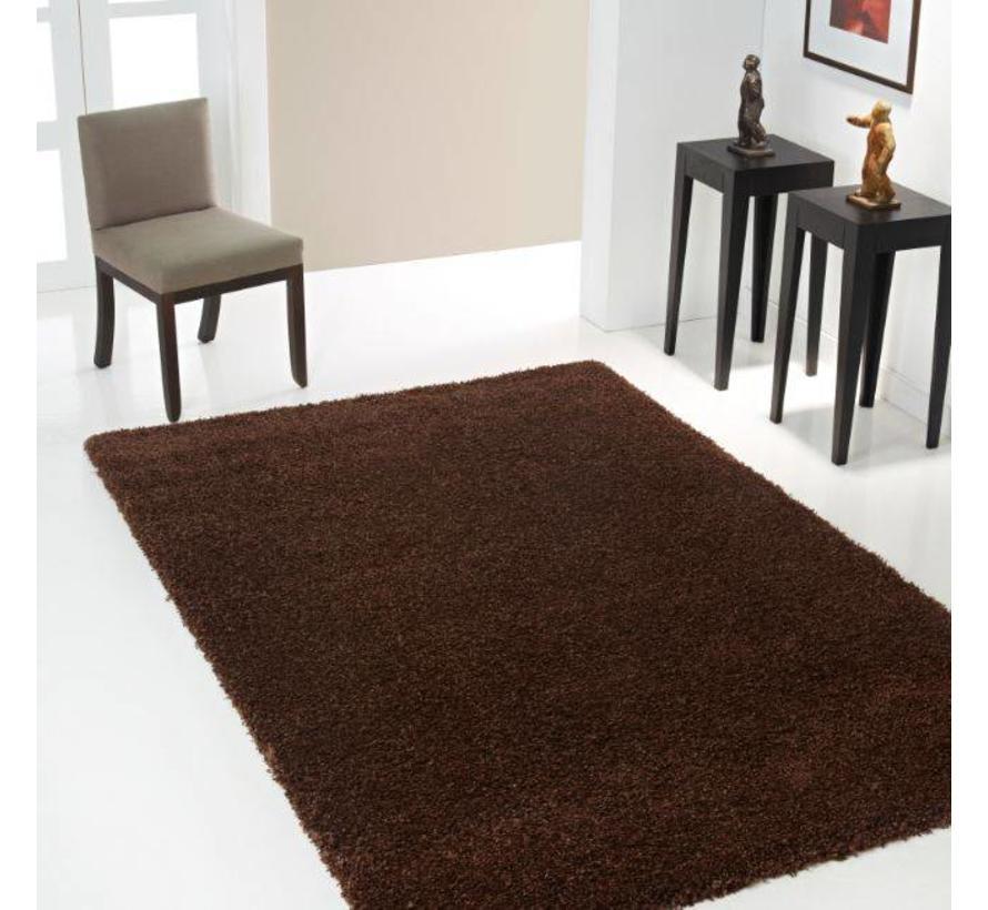 Tapis poil long brun, 30 mm