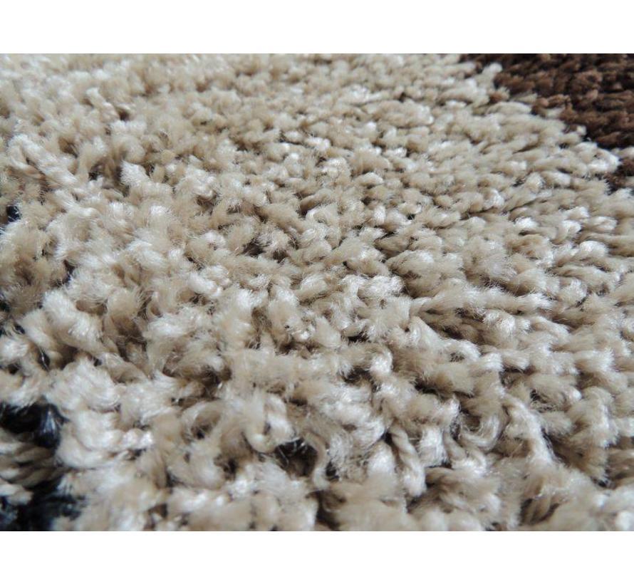 Hoogpolig tapijt beige 30mm