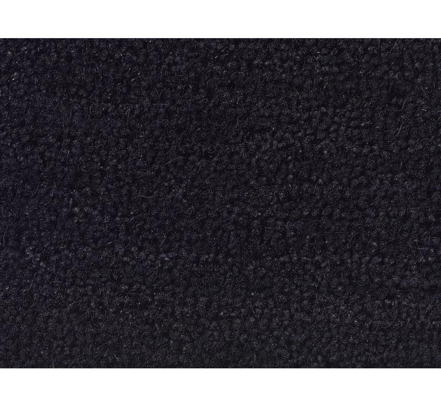 Tapis coco noir sur mesure 17mm