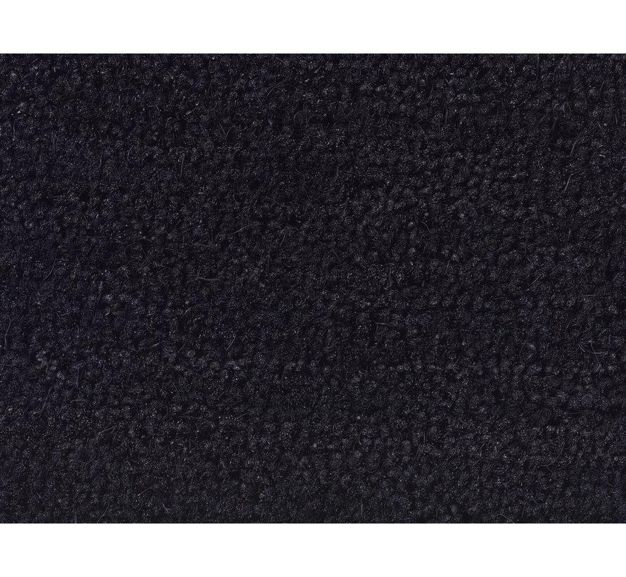 Tapis coco noir sur mesure 23mm