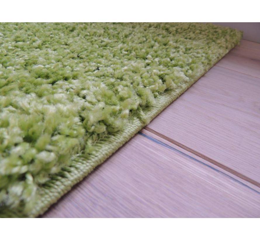 Tapis poil long vert 30 mm