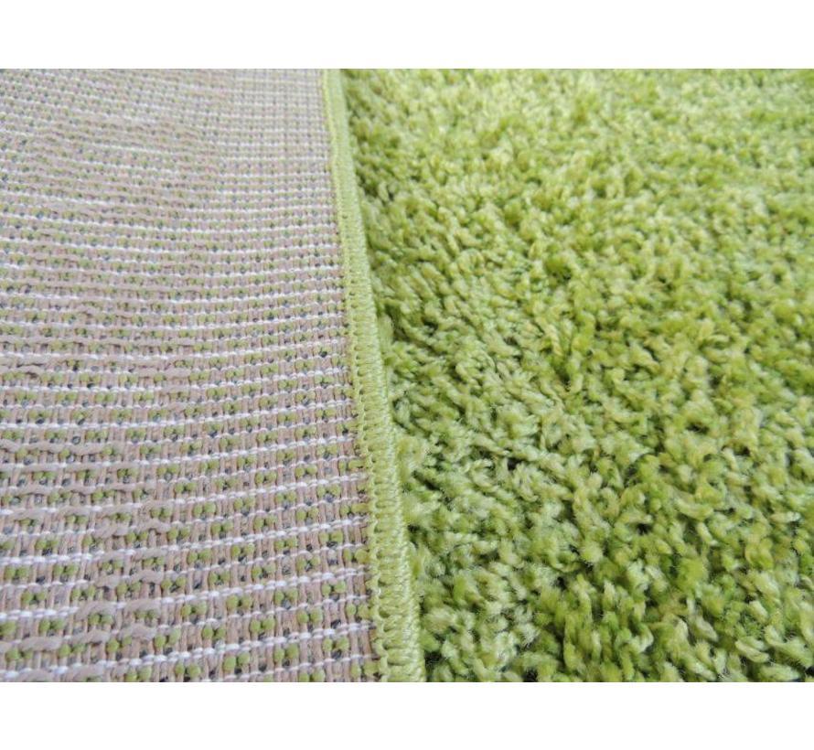 Hoogpolig tapijt groen 30mm