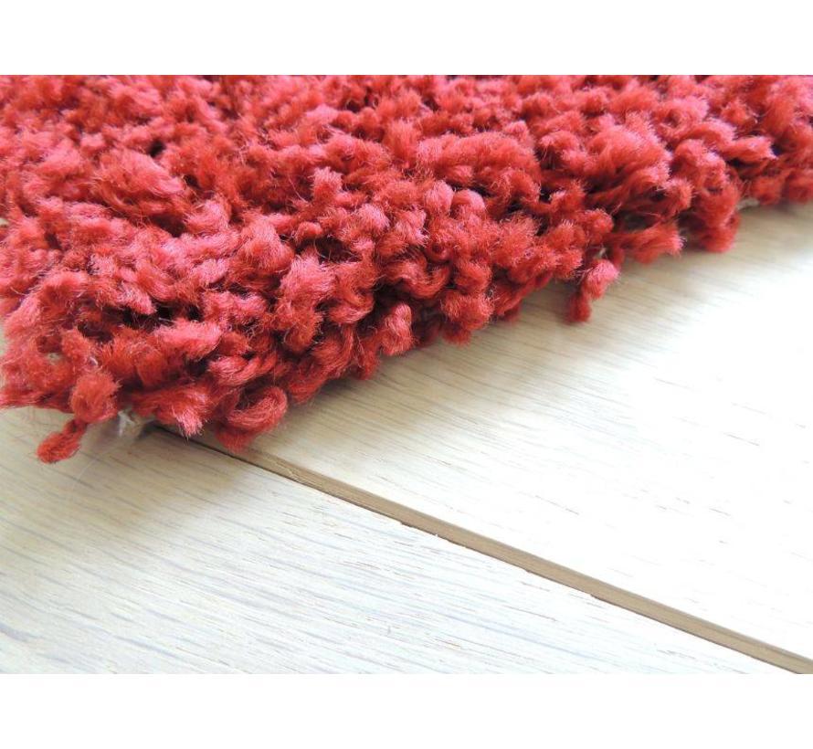 Hoogpolig tapijt rood 30 mm