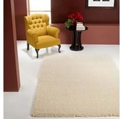 Hoogpolig tapijt wit 30mm