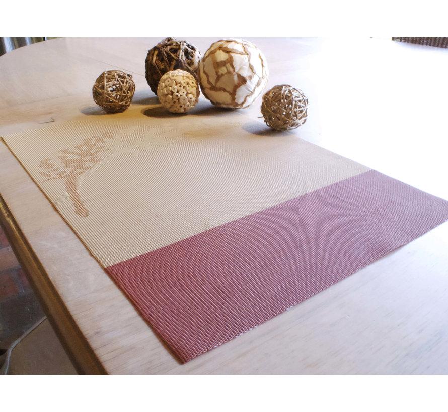 Set de table, dessin en couleurs rouilles