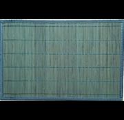 Set de table en bambou, turquoise