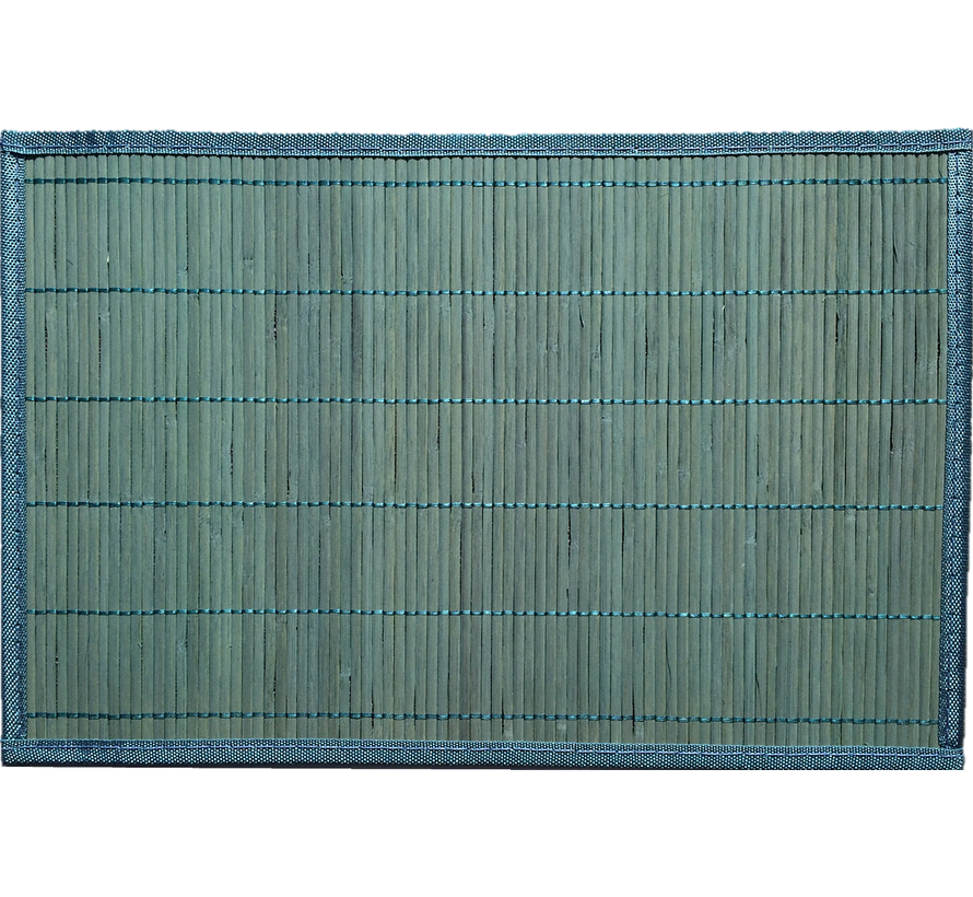 Bamboe placemat, turkoois