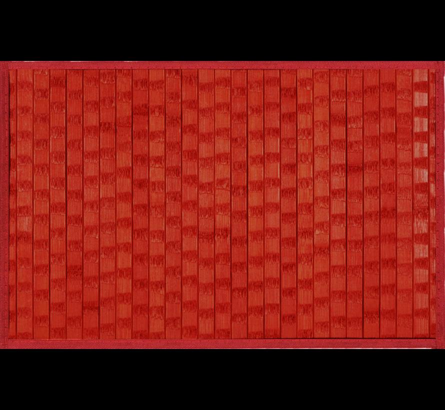 Set de table en bambou avec structure, rouge