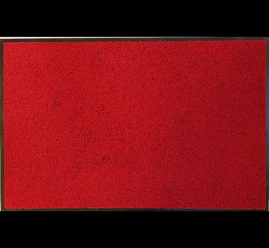 Tapis d'entrée absorbant et écologique rouge