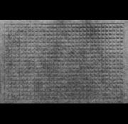 Schrapende naaldvilt deurmat vierkanten grijs